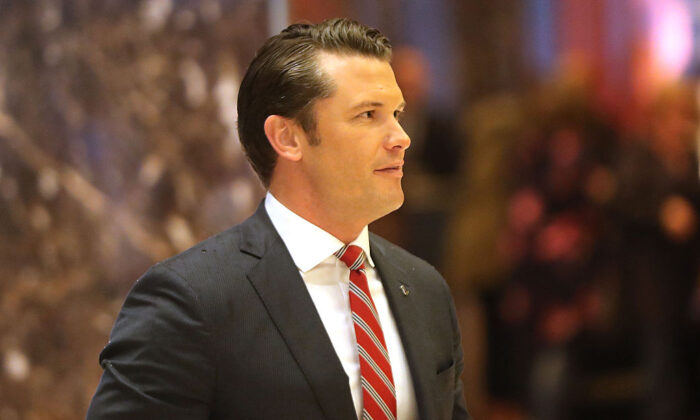 Co-host of Fox & Friends Weekend and a Fox News senior political analyst Pete Hegseth in 2016 in New York City. (Spencer Platt/Getty Images)