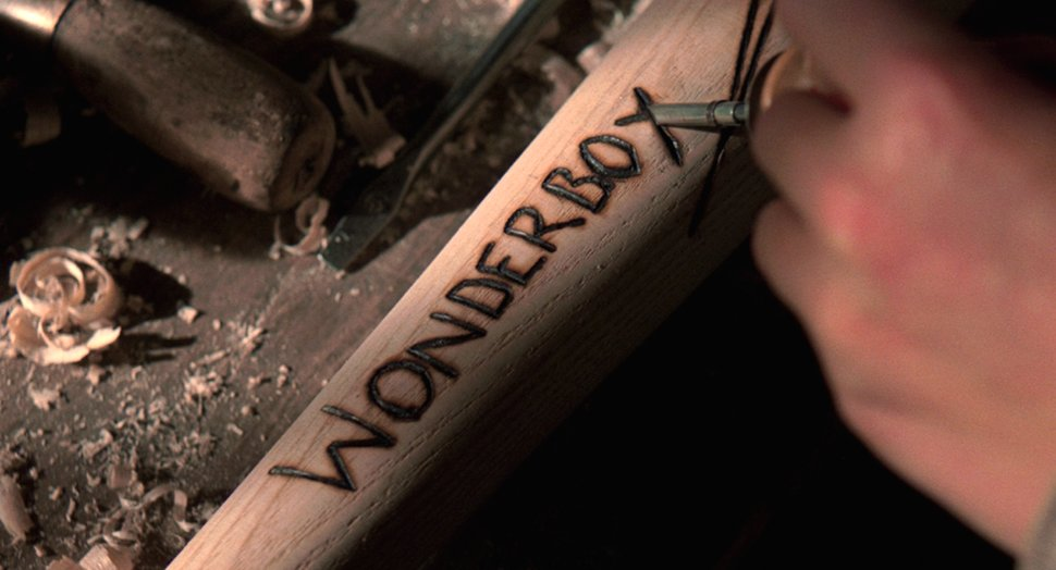 "burn-carving a baseball bat in ""The Natural"""