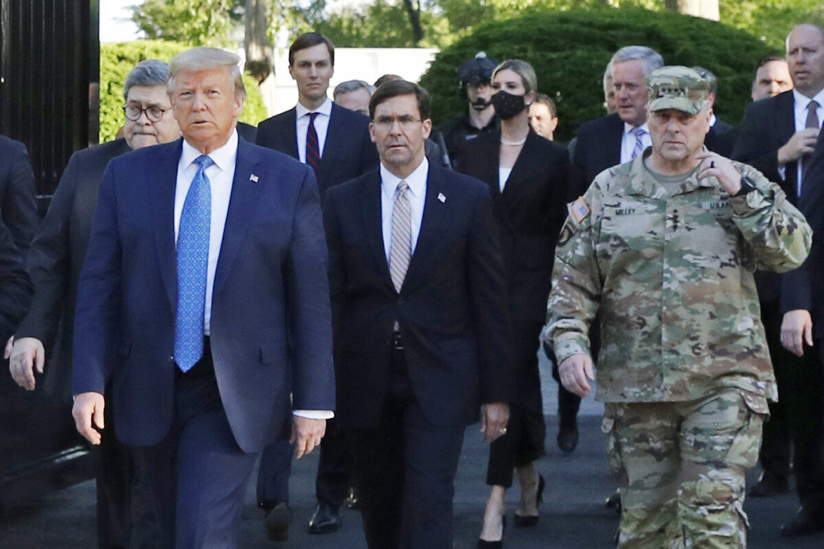 trump with esper