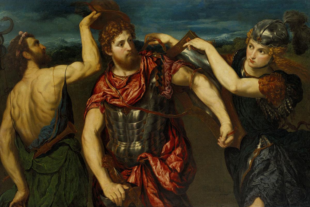 Perseus_Armed_by_Mercury_and_Minerva_by_Paris_Bordone_-_BMA