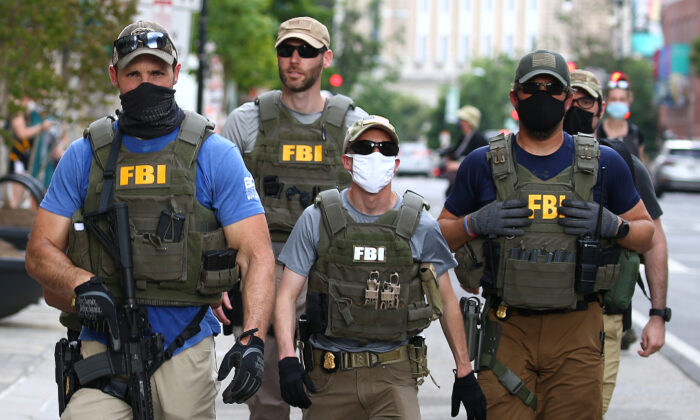 FBI agents in Washington, D.C., on June 3, 2020. (Tasos Katopodis/Getty Images)