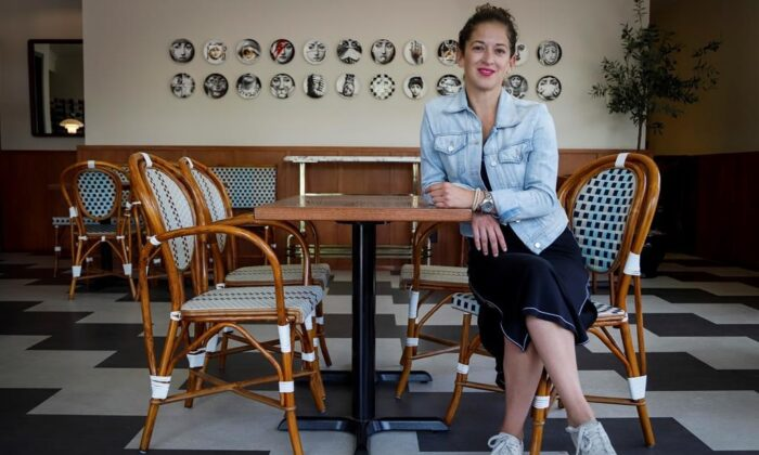 Annabelle's Kitchen owner Leslie Echino poses for a photo at her restaurant in Calgary on June 11, 2020. (The Canadian Press/Jeff McIntosh)