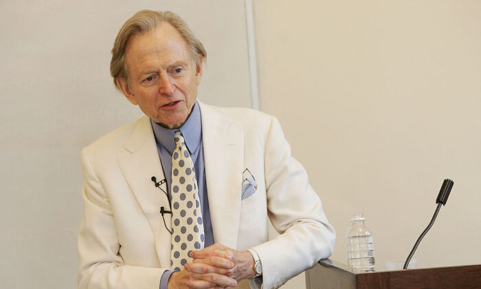 Would Tom Wolfe's works be published today? Wolfe lecturing at Fordham University, on Feb.15, 2005 in New York City. (Evan Agostini/Getty Images)