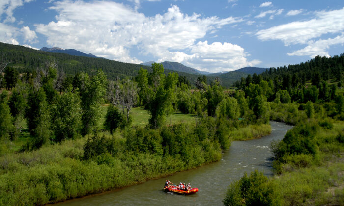 When water levels are high, from mid-April to June, kayakers and rafters head to the San Juan River. (Courtesy of Visit Pagosa Springs)