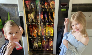 Mother Invests in Secondhand Vending Machine to Make Kids Do Chores to Pay for Snacks