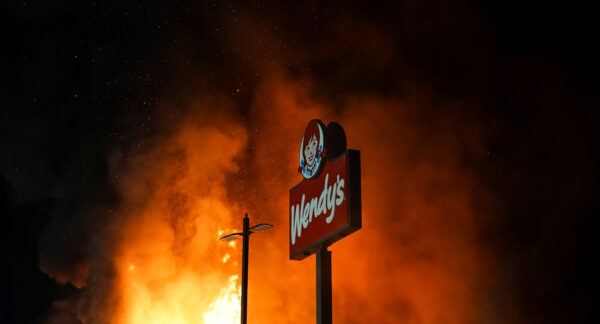 Wendy's burns following a rally