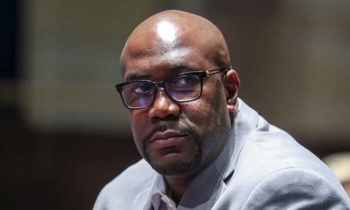 George Floyd's brother Philonise Floyd returns at the end of a lunch recess during the House Judiciary Committee hearing on Policing Practices and Law Enforcement Accountability at the U.S. Capitol in Washington, on June 10, 2020. (Michael Reynolds/Getty Images)