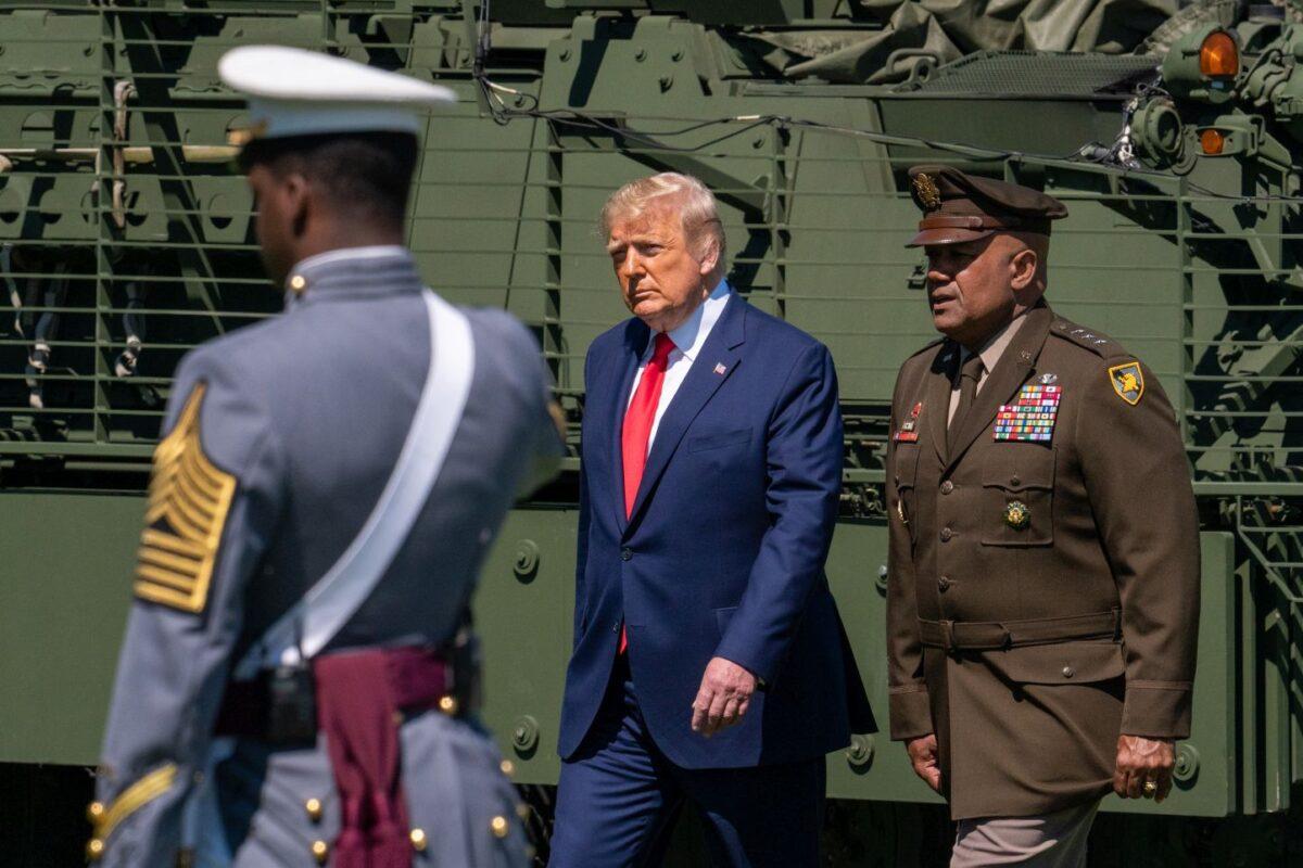 Trump Address Speculation After Walking Down West Point Ramp