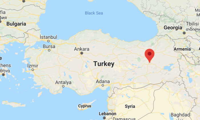 Bingol Province, Turkey, on a map. (Screenshot/Google Maps)