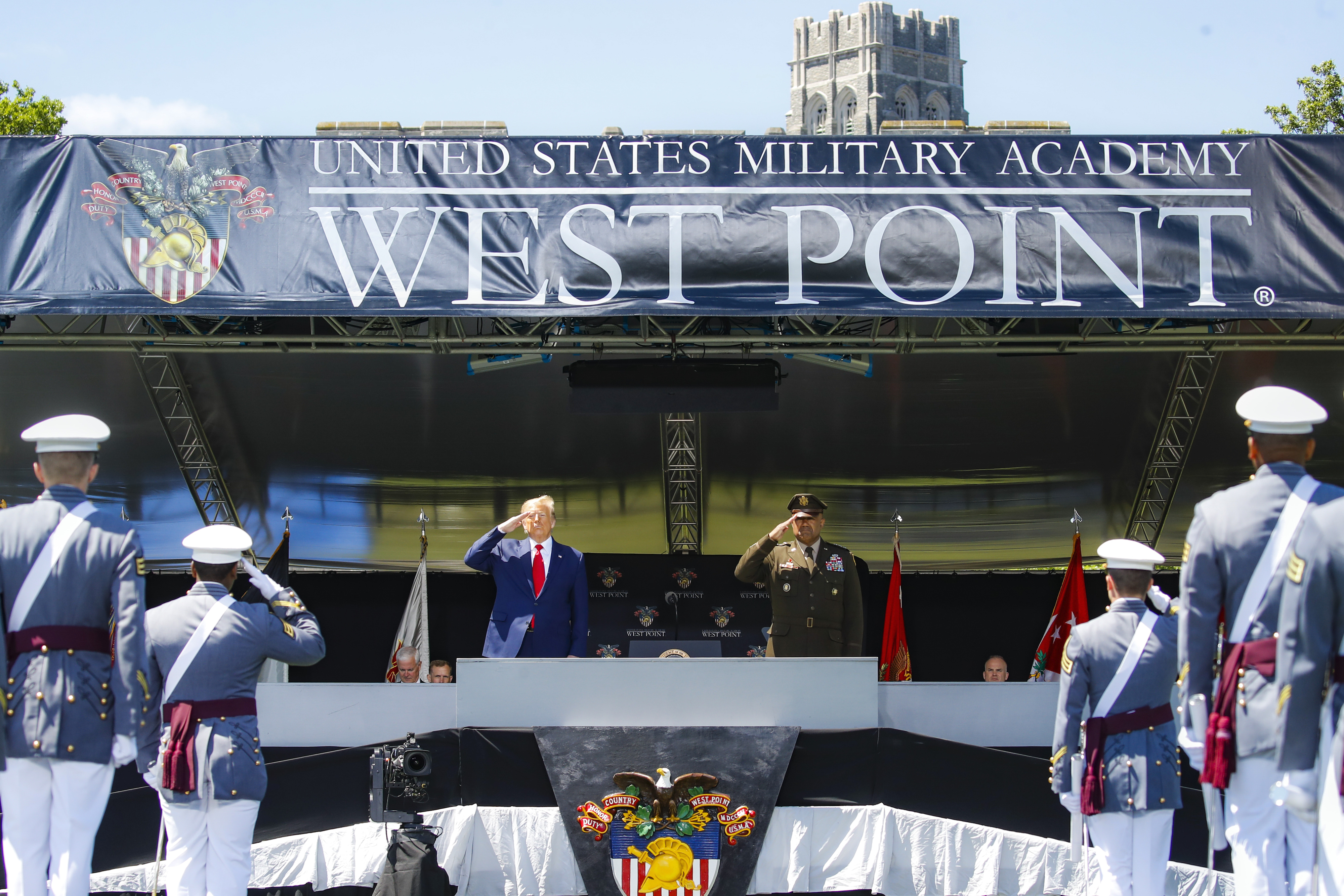 President Trump Speaks At West Point Graduation Ceremony