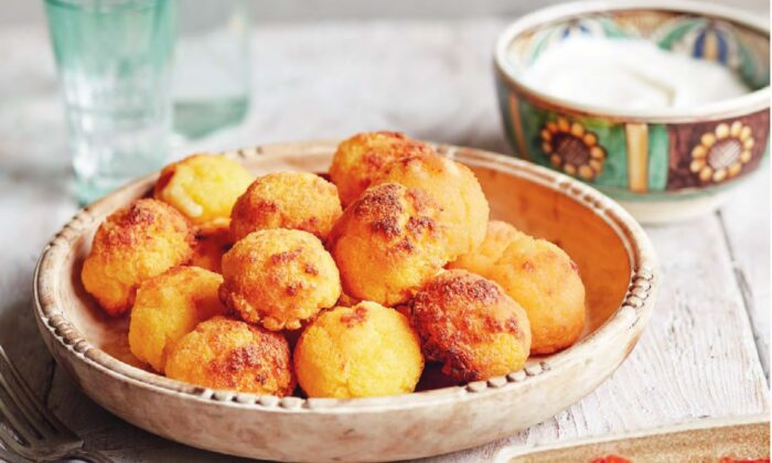 Bulz, a shepherd's snack of polenta balls stuffed with cheese, can be baked in the oven or cooked in the embers of an open fire. (Jamie Orlando Smith Photography)