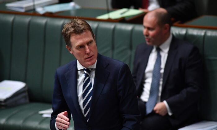 Attorney-General Christian Porter during Question Time in the House of Representatives at Parliament House on May 13, 2020 in Canberra, Australia. (Sam Mooy/Getty Images)
