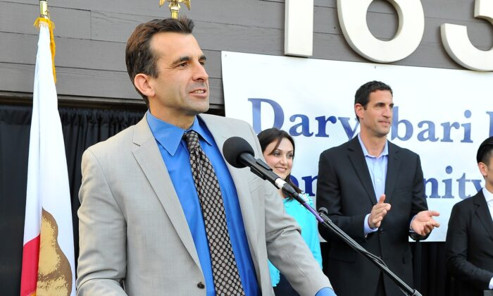 A file photo of San Jose Mayor Sam Liccardo, attending the Pars Equality Center's Daryabari Iranian Community Center Opening in San Jose, Calif., on April 16, 2015. (Steve Jennings/Getty Images for Pars Equality Center)
