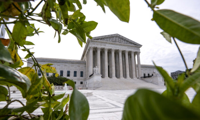 The Supreme Court is seen in Washington, early on June 15, 2020. (J. Scott Applewhite/AP Photo)