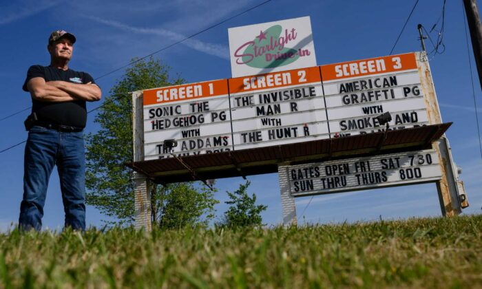Starlight Drive-In owner John Manson has managed the business, which was built in 1958, for five seasons. (Justin Merriman)