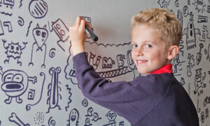 Boy Told to Not Doodle in School Has His Drawings Featured in a Local Restaurant