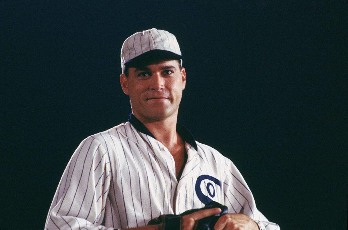 """man in white baseball uniform in """"Field of Dreams"""""""