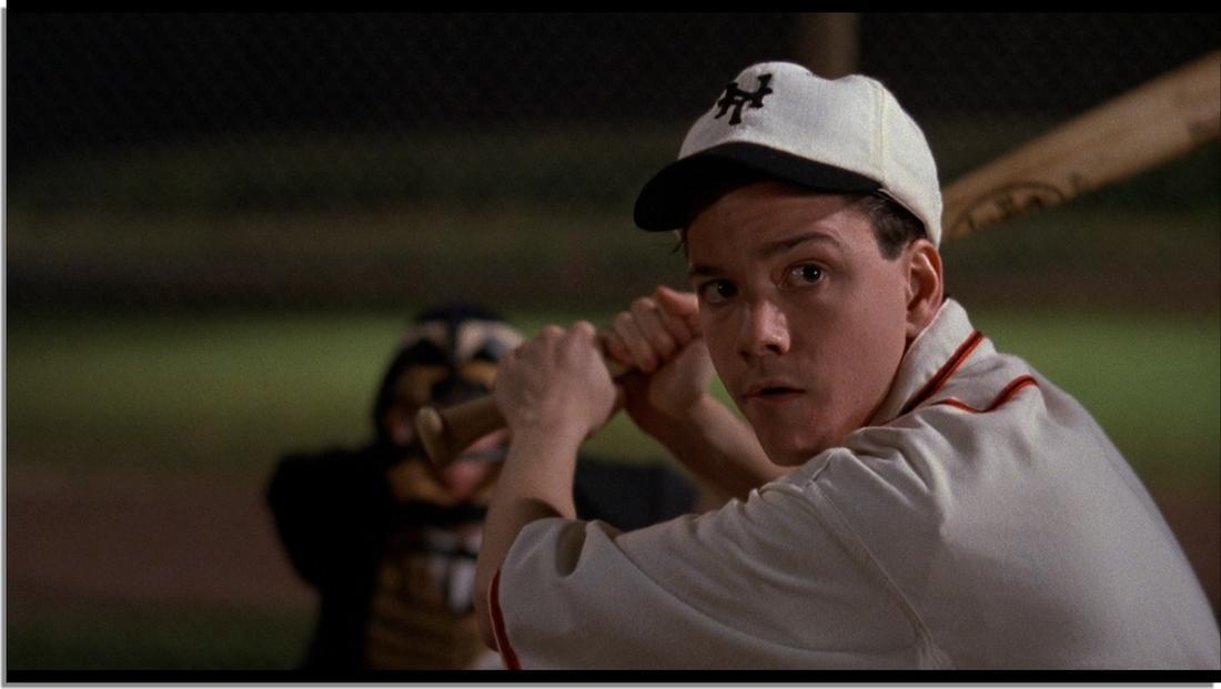 "baseball player at bat in ""Field of Dreams"""