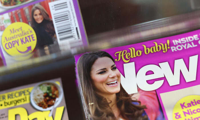 New Idea magazine is on display during the week of the birth of the son of the Duke and Duchess of Cambridge at a newsagent on July 24, 2013 in Sydney, Australia.  (Cameron Spencer/Getty Images)