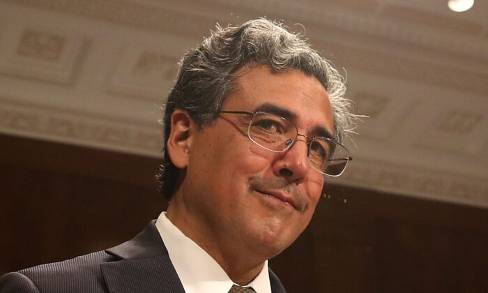 Solicitor General nominee Noel Francisco attends his Senate Judiciary Committee confirmation hearing on Capitol Hill in Washington, on May 10, 2017. (Mark Wilson/Getty Images)