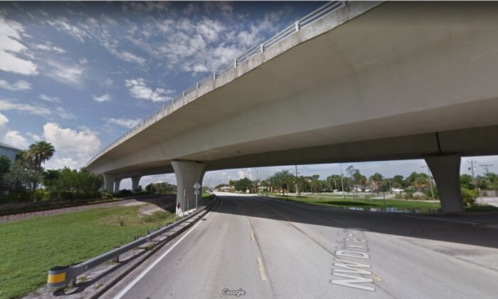 A section of the Roosevelt Bridge in Stuart, Fla., in 2017. (Google Maps)