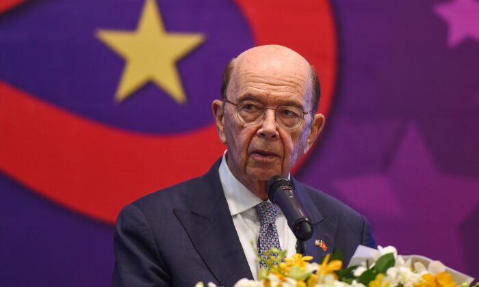 U.S. Secretary of Commerce Wilbur Ross looks on as he speaks during an event organised by the American Chamber of Commerce in Hanoi, Vietnam, on Nov. 8, 2019. (Nhac Nguyen/AFP/Getty Images)