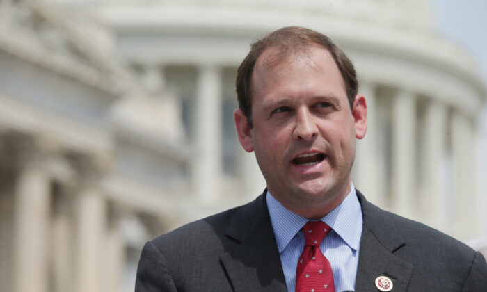 Rep. Andy Barr (R-Ky.) speaks in Washington in a 2014 file photograph. His wife died suddenly on June 16, 2020. (Chip Somodevilla/Getty Images)