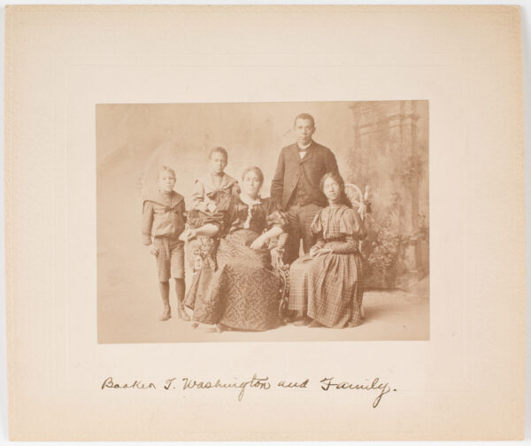 Booker T. Washington and family