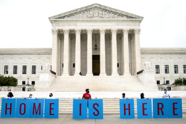 DACA recipients protest outside Supreme Court