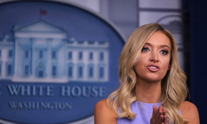 White House Press Secretary Kayleigh McEnany speaks at a news briefing at the White House in Washington on June 17, 2020. (Alex Wong/Getty Images)