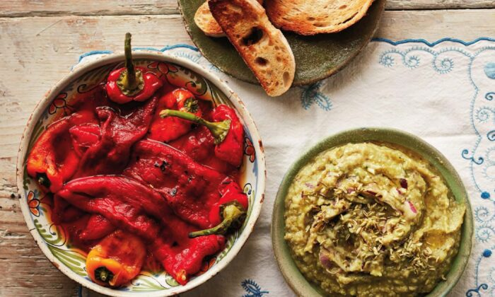 These roasted peppers and eggplant dip are always on a table of Romanian starters, and always together. (Jamie Orlando Smith Photography)