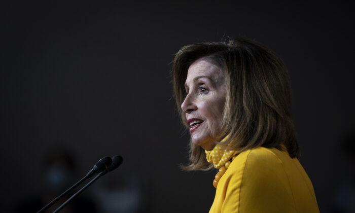 House Speaker Nancy Pelosi (D-Calif.) speaks in Washington on June 11, 2020. (Sarah Silbiger/Getty Images)