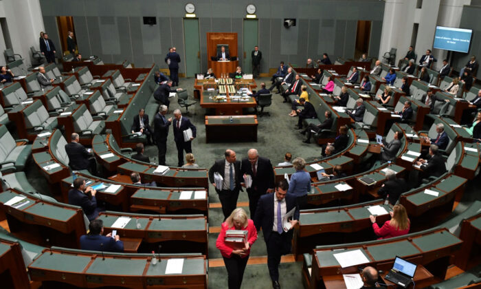 MP's depart question time in the House of Representatives at Parliament House, on June 18, 2020 in Canberra, Australia. (Sam Mooy/Getty Images)