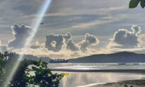 Amazing Photo of Clouds Forming the Word 'Love' Gives People Hope Amidst Global Crises