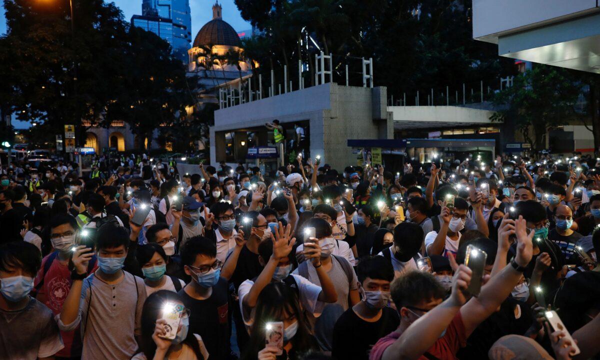 Hong Kong protest vigil