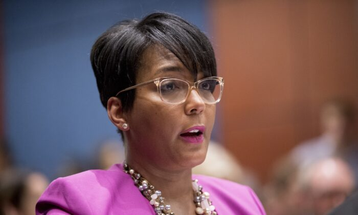 Atlanta Mayor Keisha Lance Bottoms speaks in Washington in 2019. (Andrew Harnik/AP Photo)