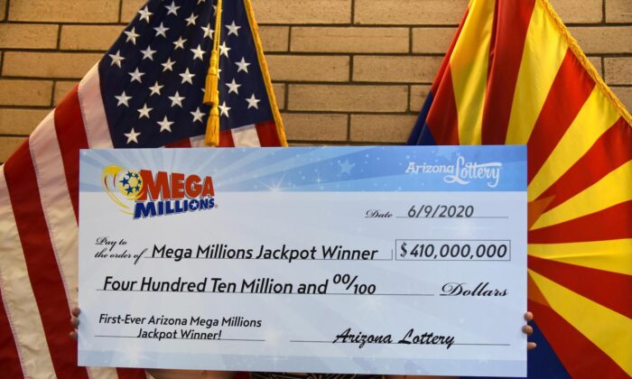 A lucky penny and family birthdays help an Arizona couple win a $410 million Mega Millions jackpot.(Arizona Lottery)