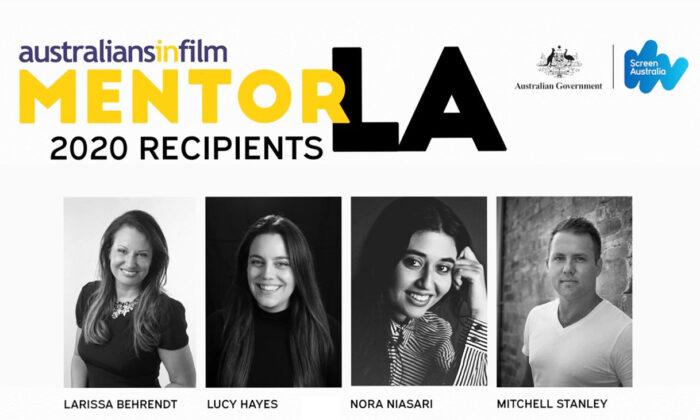 The recipients of MentorLA 2020. (Australians In Film)