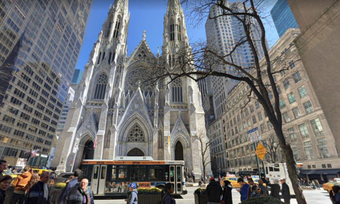 St. Patrick's Cathedral in New York City, N.Y., in a file photo. (Google Maps)