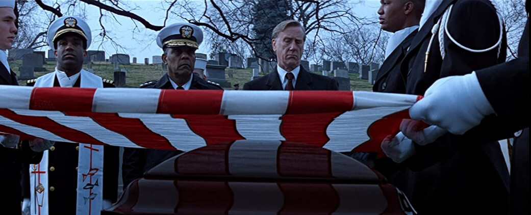 """POTUS and funeral flag ceremony in """"Clear and Present Danger"""""""