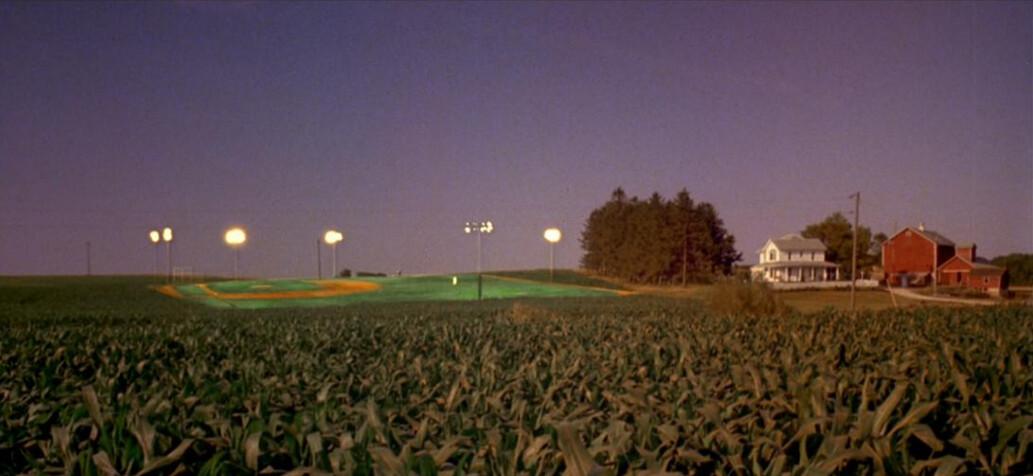 """Baseball field in a cornfield in """"Field of Dreams"""""""