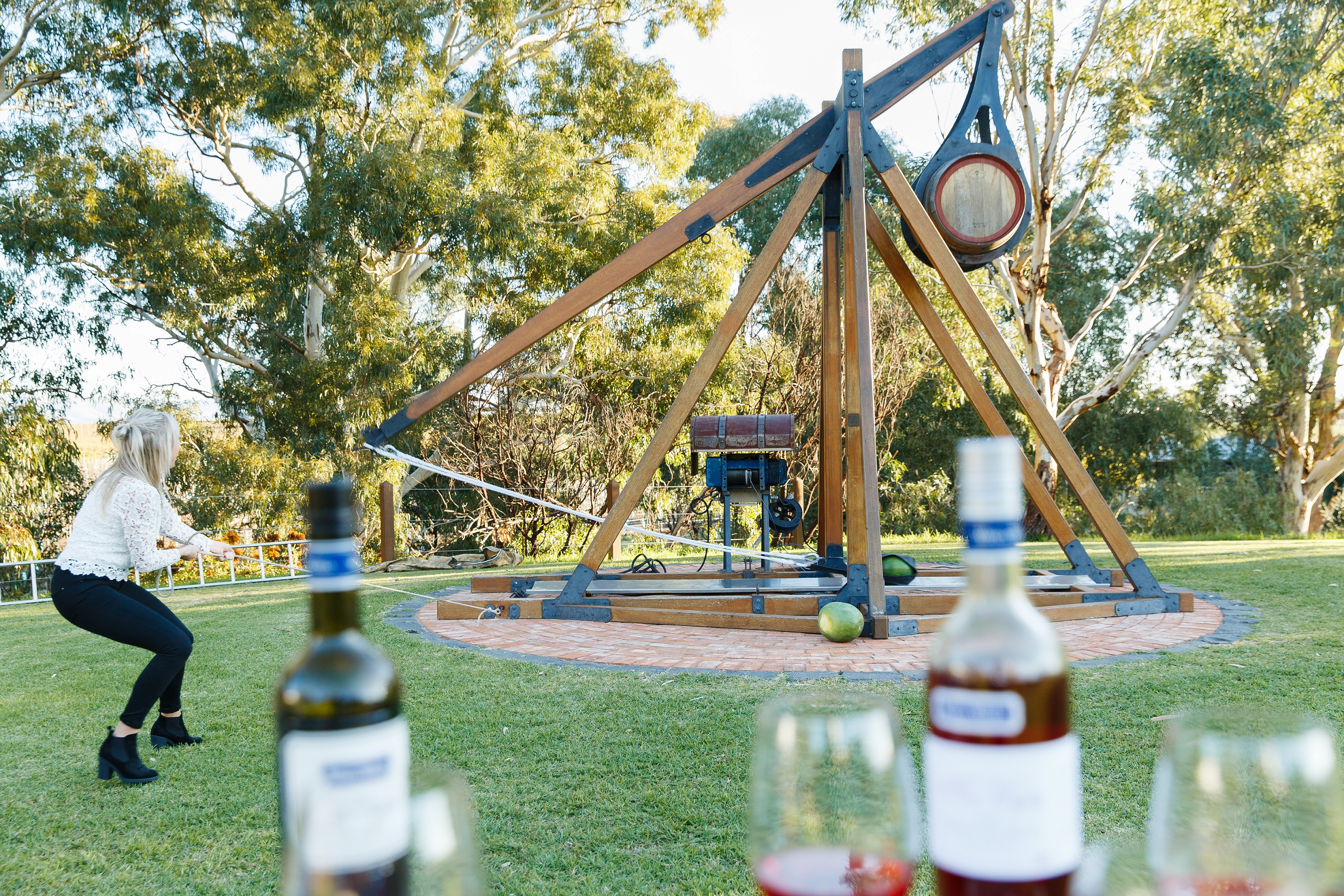 Wine catapult