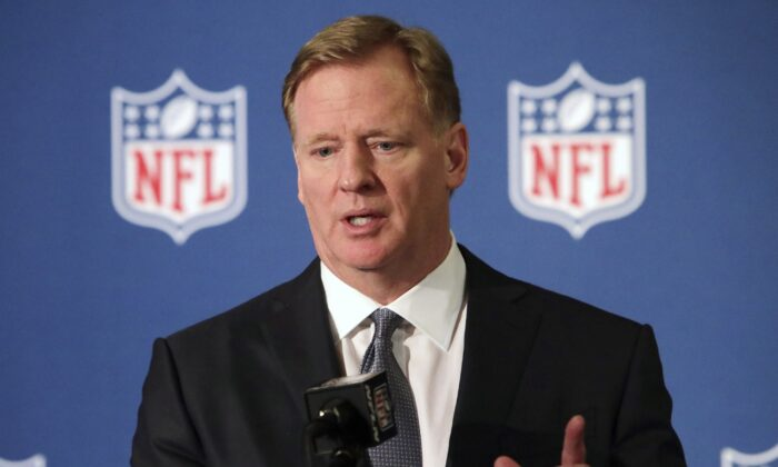 NFL commissioner Roger Goodell speaks during a news conference in Irving, Texas, on Dec. 12, 2018. (LM Otero/AP Photo)