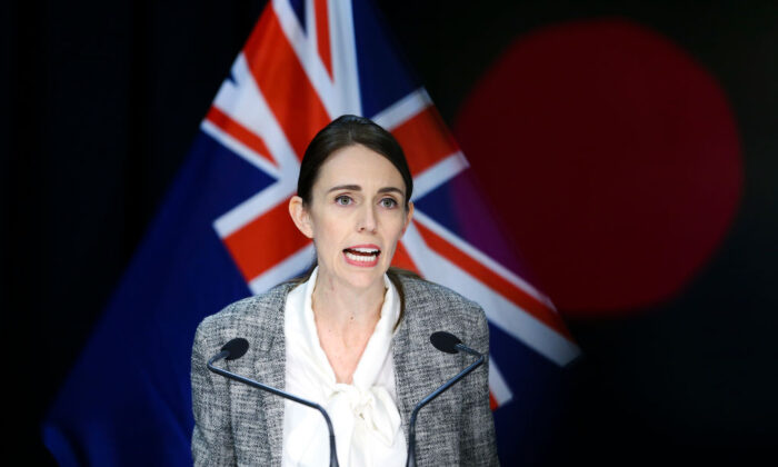 Prime Minister Jacinda Ardern speaks to media during a press conference at Parliament on June 17, 2020 in Wellington, New Zealand. (Hagen Hopkins/Getty Images)