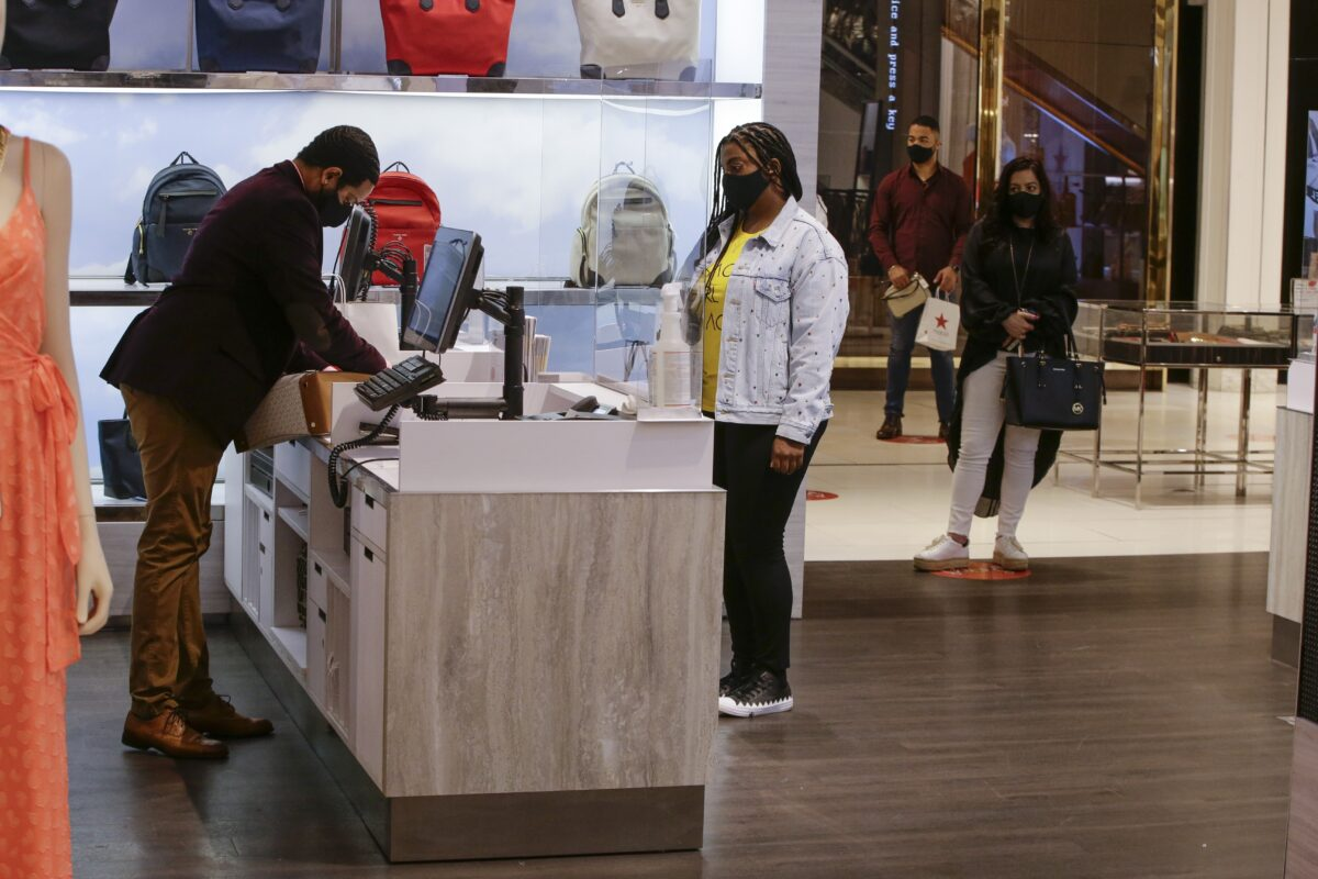 test social distancing at the Macy's