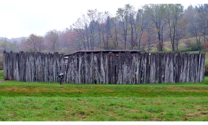 The reconstructed Fort Necessity on southern Pennsylvania is seen on Oct. 11, 2014. (Wilson44691/Wikimedia Commons)