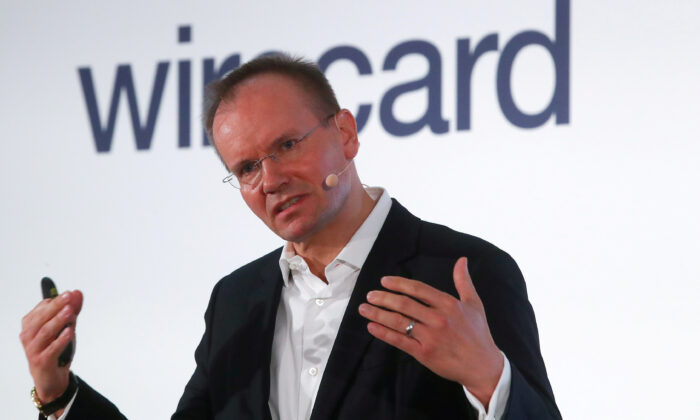 Markus Braun, CEO of Wirecard AG, an independent provider of outsourcing and white label solutions for electronic payment transactions attends the company's annual news conference in Aschheim near Munich, Germany on April 25, 2019. (Michael Dalder/Reuters)