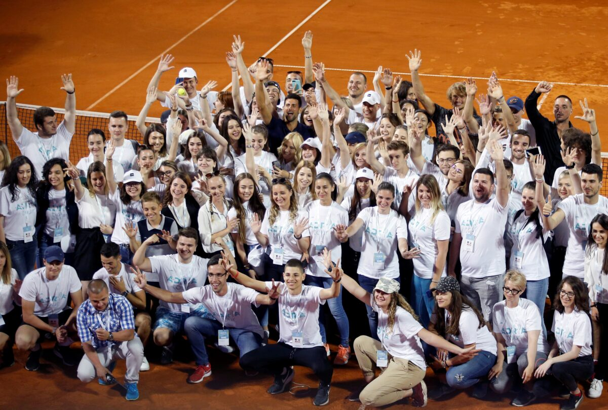 Novak Djokovic of Serbia Adria Tour