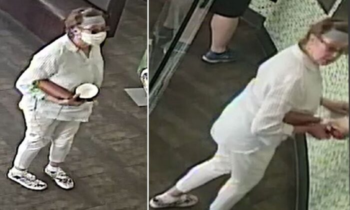 The female suspect who allegedly coughed in the face of a baby in San Jose, Calif., in a file photo. (San Jose Police Department)