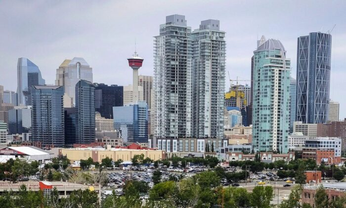 The Calgary skyline in a file photo. Human resources consulting firm Morneau Shepell says 13 percent of the organizations it monitors say they plan to freeze salaries in 2021, with Alberta being hit hardest among provinces. (The Canadian Press/Jeff McIntosh)